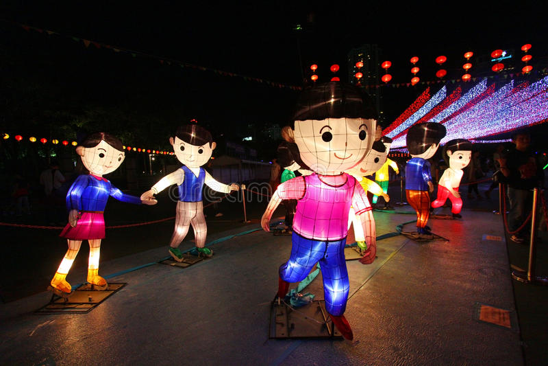 Mid-Autumn Lantern Carnival in Hong Kong royalty free stock photo