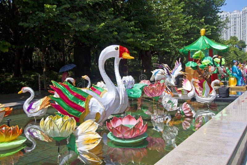 Mid-Autumn Lantern Carnival in Hong Kong royalty free stock image