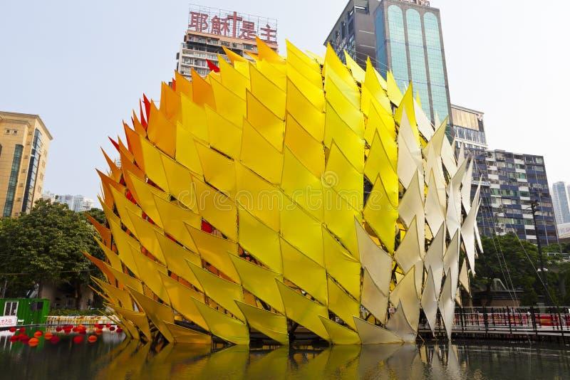 Mid-Autumn Lantern Carnival in Hong Kong stock photos