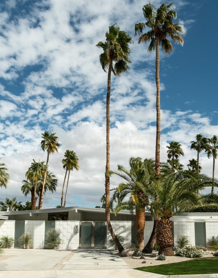 Classic Palm Springs residential architecture royalty free stock images