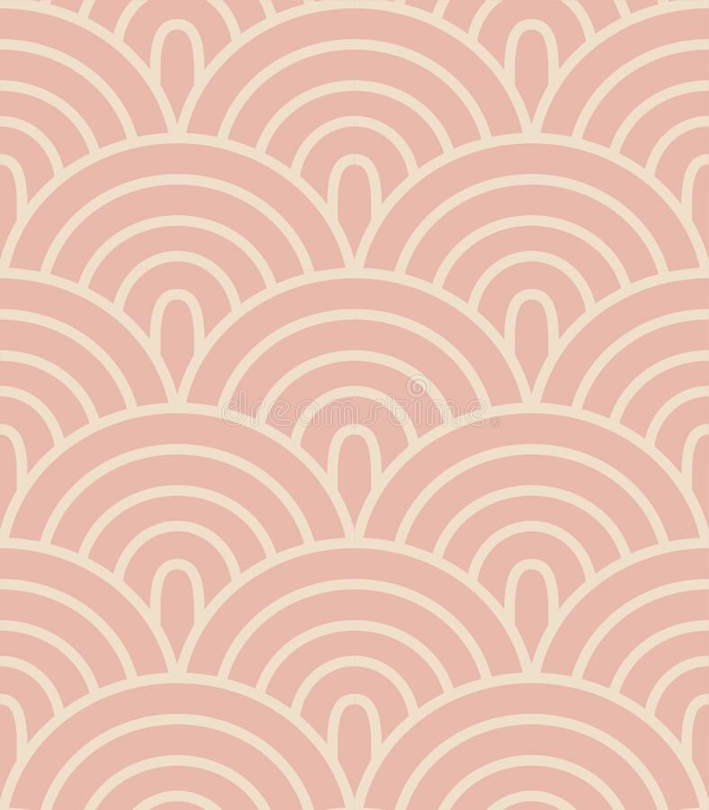Free Mid Century Geometric Pastel Pink  Seamless Vector Pattern Royalty Free Stock Photos - 178993828