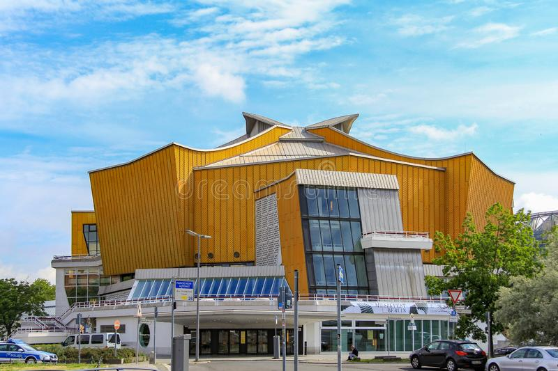 Mid-day shot of the The Berliner Philharmonie. stock photography