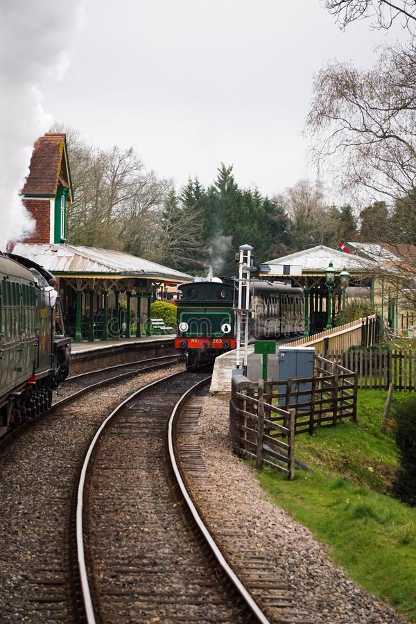 Mid Hants steam railway Ropley station royalty free stock images