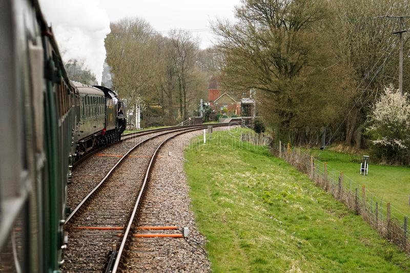 Mid Hants steam railway Ropley station stock images