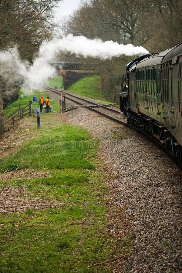 Mid Hants steam railway Ropley station royalty free stock image