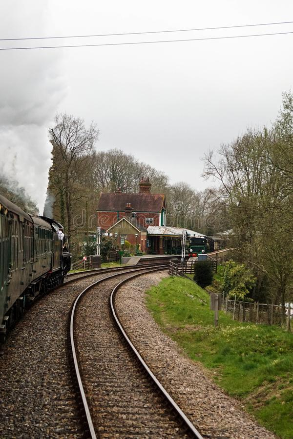 Mid Hants steam railway Ropley station stock photography