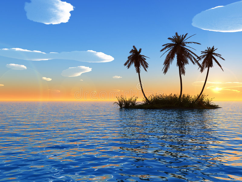 Mid_island_cs_2 stock illustration