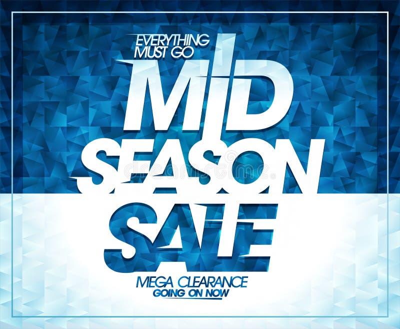 Mid season sale, mega clearance banner design stock illustration