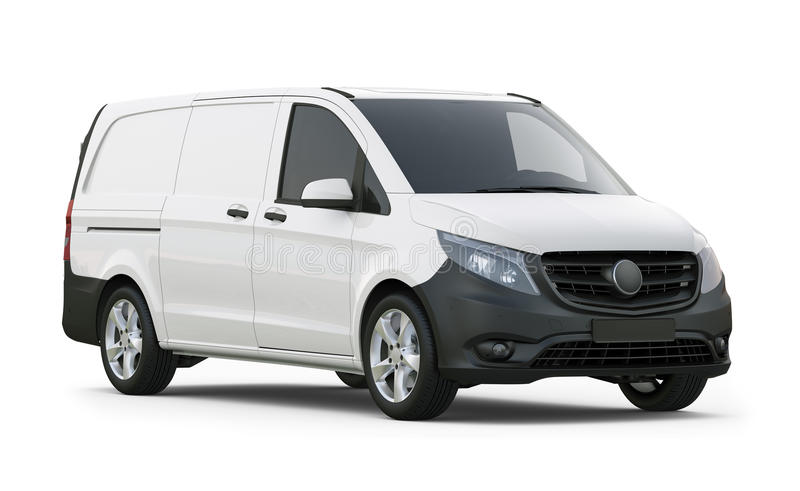 Mid-size commercial van stock images