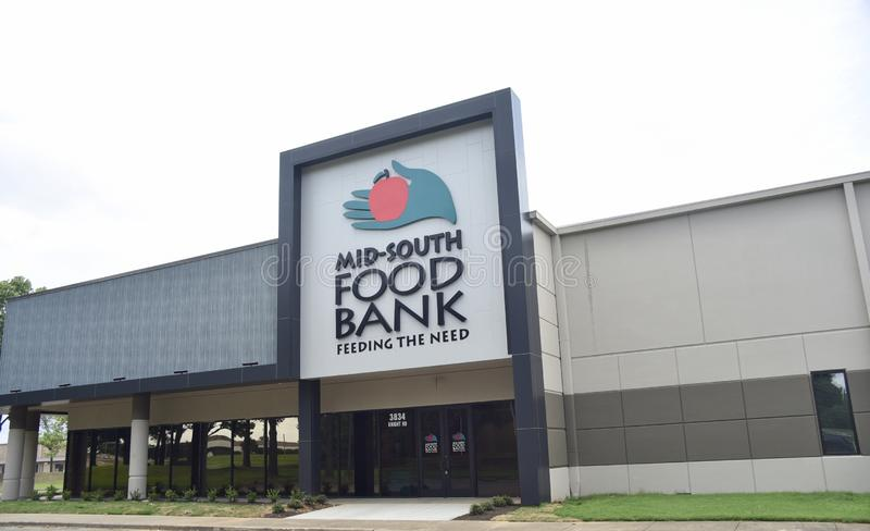 Mid-South Food Bank, Memphis, TN. Since 2981, Mid-South Food Bank has distributed more than 260,000,000 pounds of food and grocery items to its network of stock photo