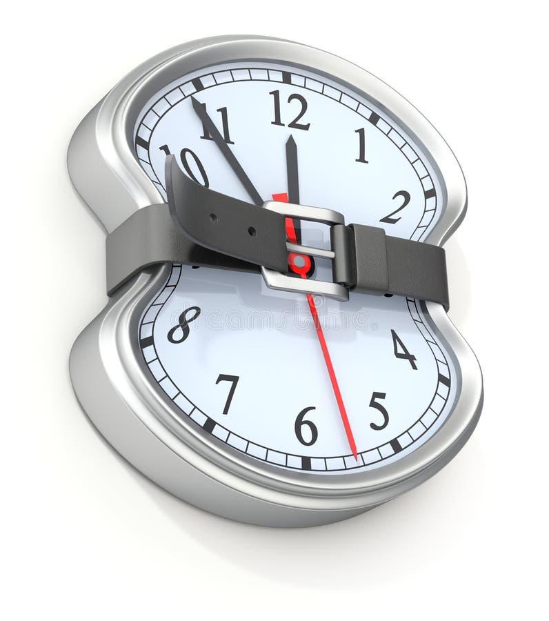 Mida el tiempo del concepto ilustración del vector