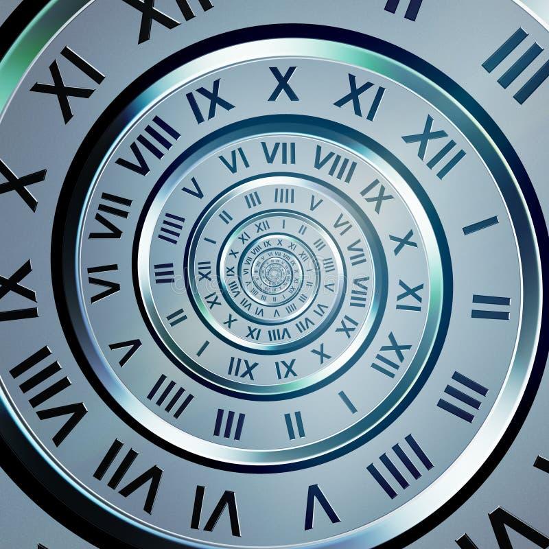 Mida el tiempo del espiral de los dígitos stock de ilustración