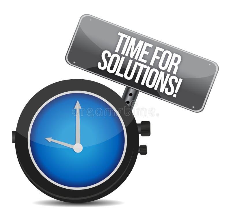 Mida el tiempo para el concepto de las soluciones stock de ilustración
