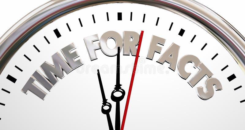 Mida el tiempo para el reloj de la investigación de la realidad de la verdad de los hechos libre illustration