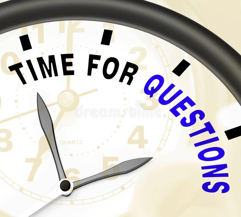 Mida el tiempo para las respuestas de la demostración del mensaje de las preguntas necesarias stock de ilustración