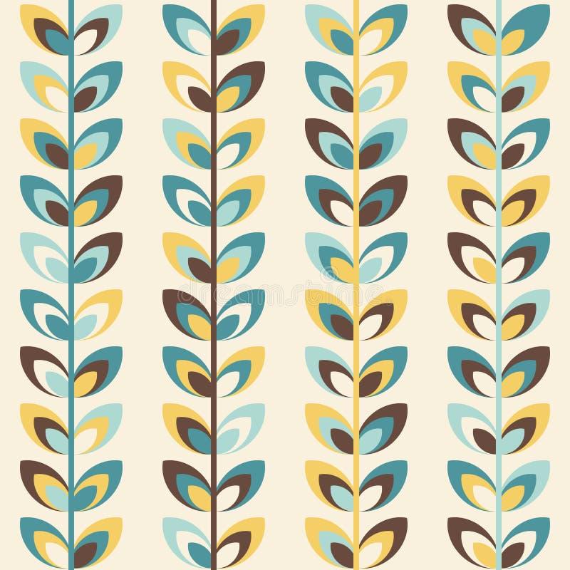 Midcentury geometryczny retro wzór, roczników kolory ilustracja wektor