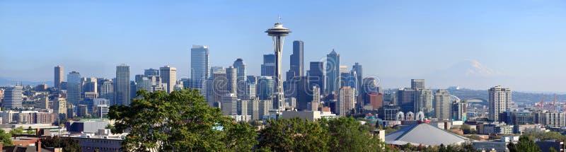 midday panoramiczny Seattle linia horyzontu wa obraz royalty free