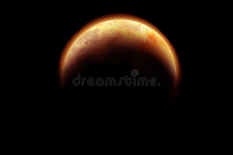 Middel 2 van de planeet vector illustratie