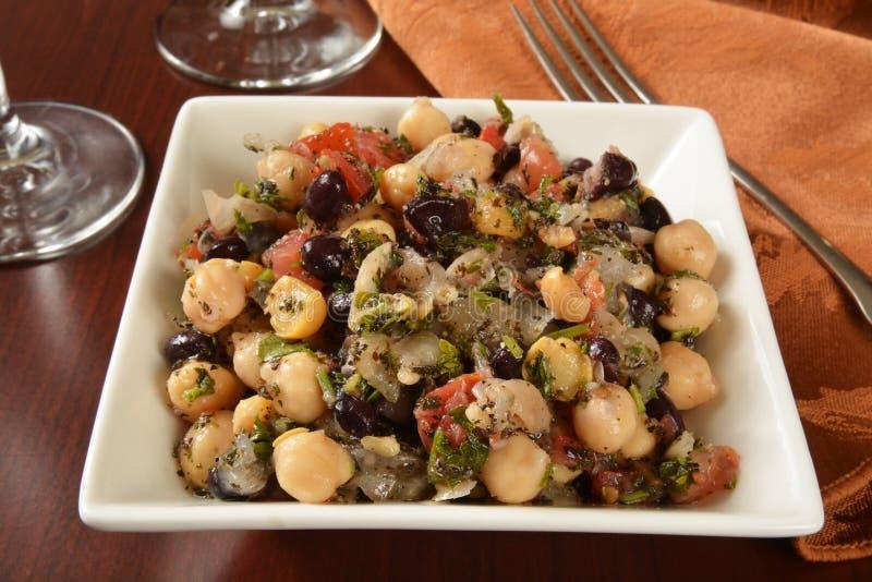 Middel eastern salad. A bowl of Balela, a Middle Eastern salad stock images