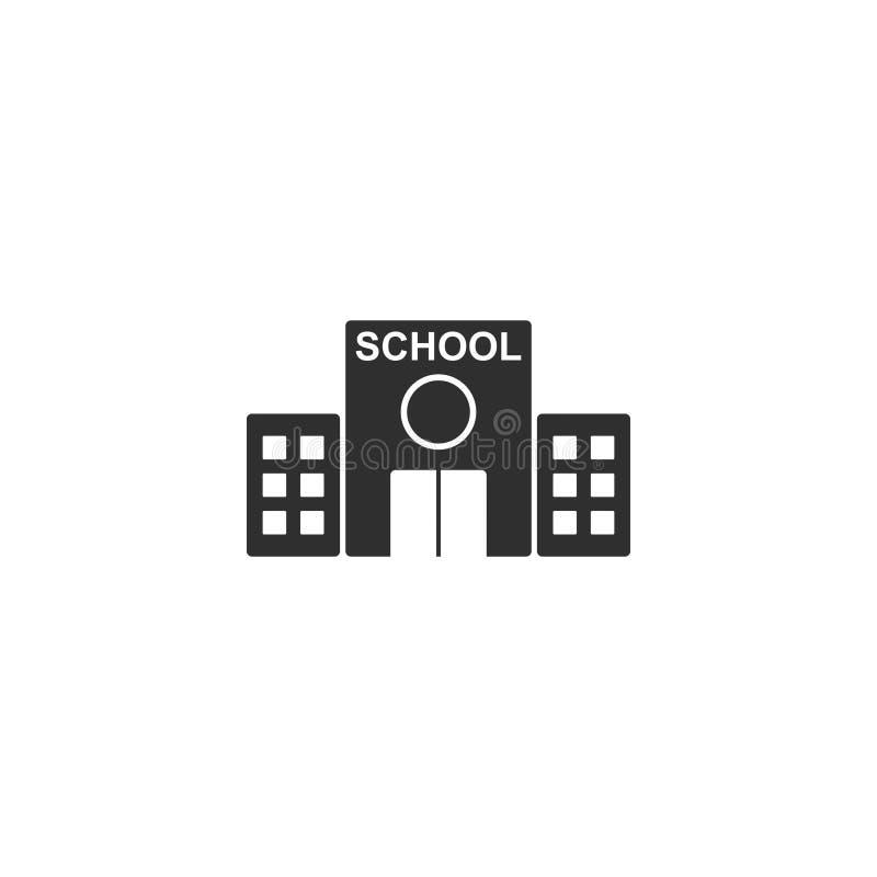 Middelbare school de vector van het de bouwpictogram isoleerde 4 royalty-vrije illustratie