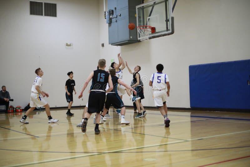 Middelbare schoolbasketbal royalty-vrije stock fotografie