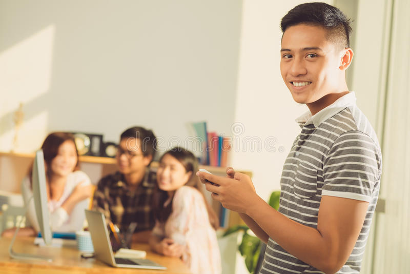 Middelbare schoolstudent stock foto