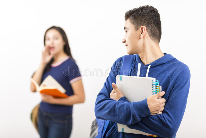 Middelbare schoolstudenten royalty-vrije stock foto