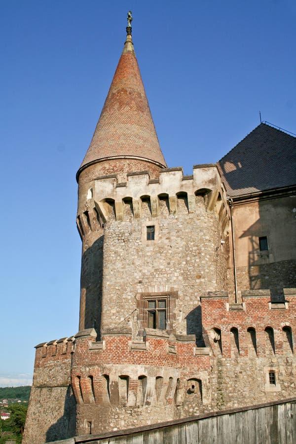 Middeleeuws Corvin-kasteel, Hunedoara, Roemenië stock afbeelding