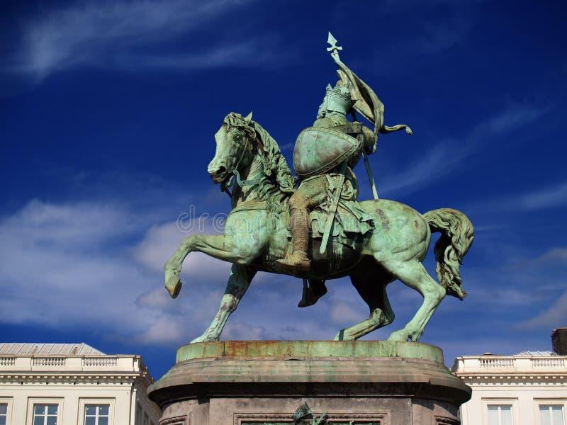 Middeleeuws de kruisvaarderstandbeeld van Brussel. royalty-vrije stock fotografie