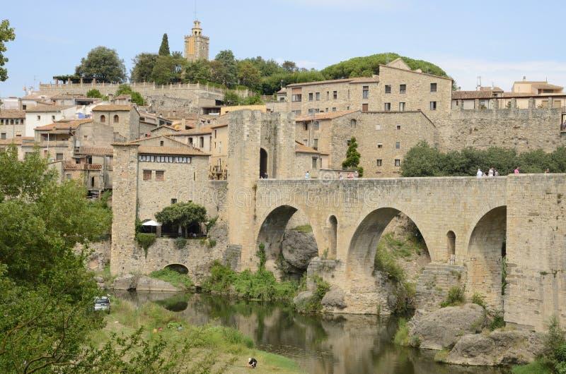 Middeleeuws dorp van Besalu stock foto