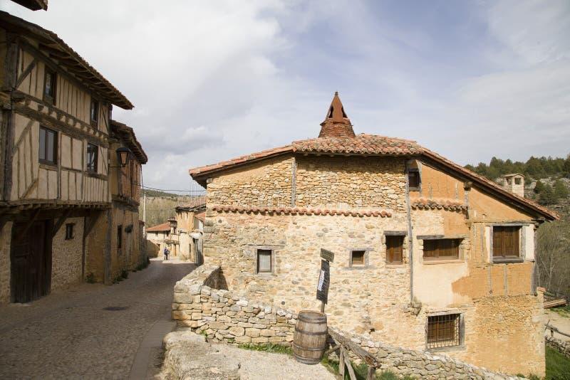 Middeleeuws dorp van Calatanazor in Soria stock afbeelding