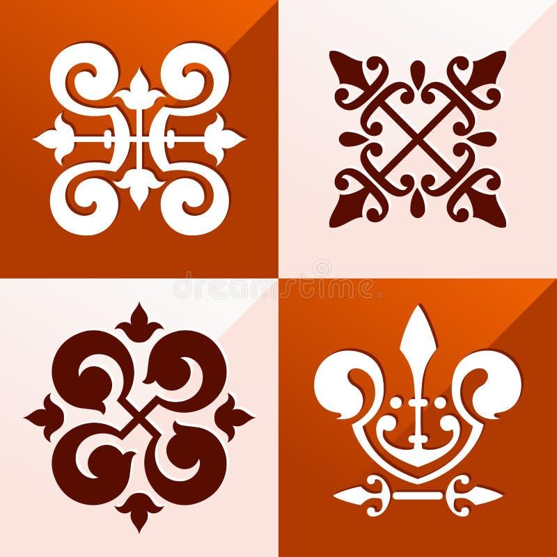 Middeleeuws embleemornament royalty-vrije illustratie
