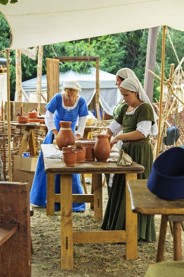 Middeleeuws Festival van Sighisoara stock fotografie