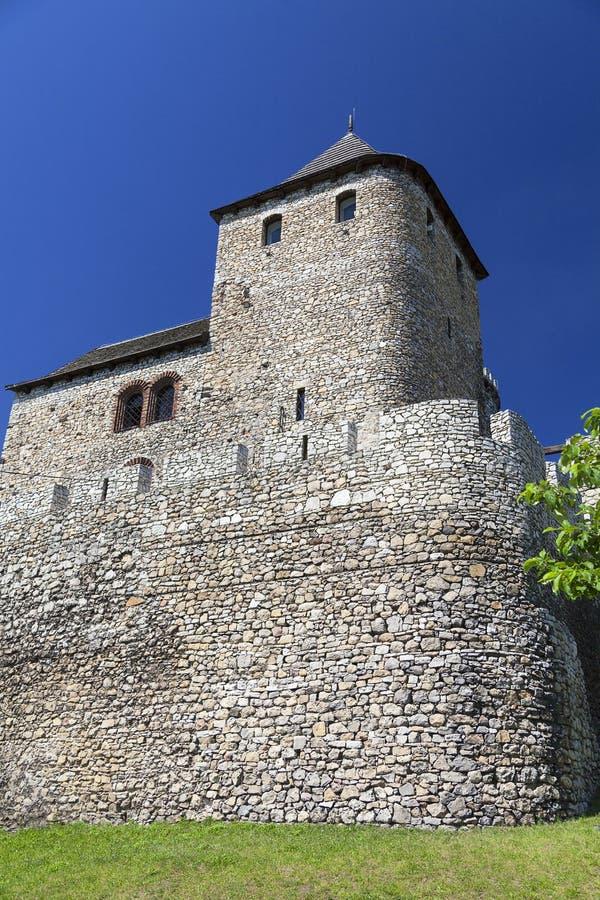 Middeleeuws gotisch kasteel, Bedzin-Kasteel, Hoger Silesië, Bedzin, Polen stock fotografie