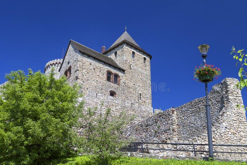 Middeleeuws gotisch kasteel, Bedzin-Kasteel, Hoger Silesië, Bedzin, Polen stock afbeelding