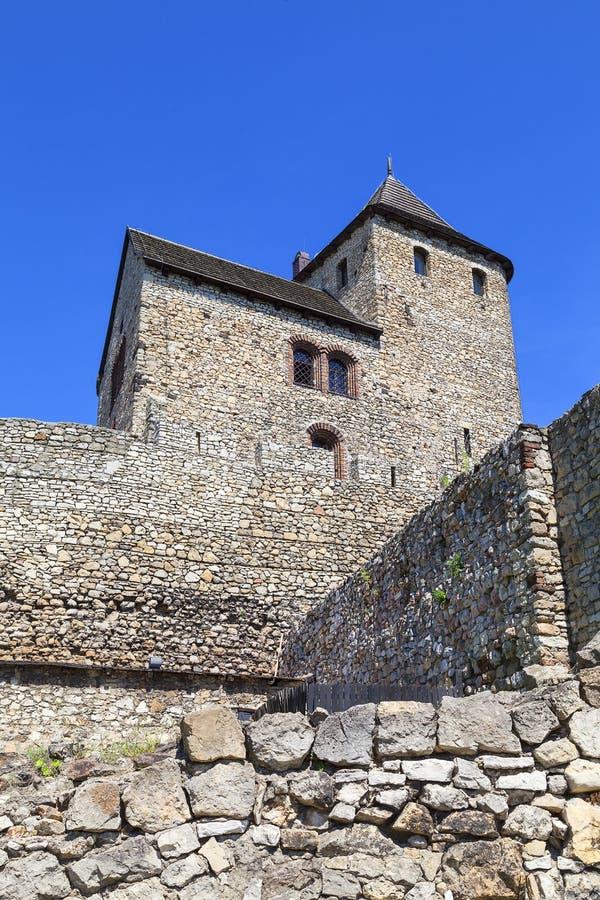 Middeleeuws gotisch kasteel, Bedzin-Kasteel, Hoger Silesië, Bedzin, Polen royalty-vrije stock foto
