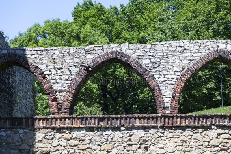 Middeleeuws gotisch kasteel, Bedzin-Kasteel, Hoger Silesië, Bedzin, Polen royalty-vrije stock foto's