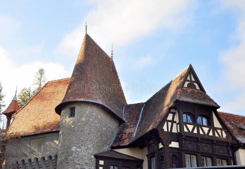Middeleeuws huis royalty-vrije stock foto's