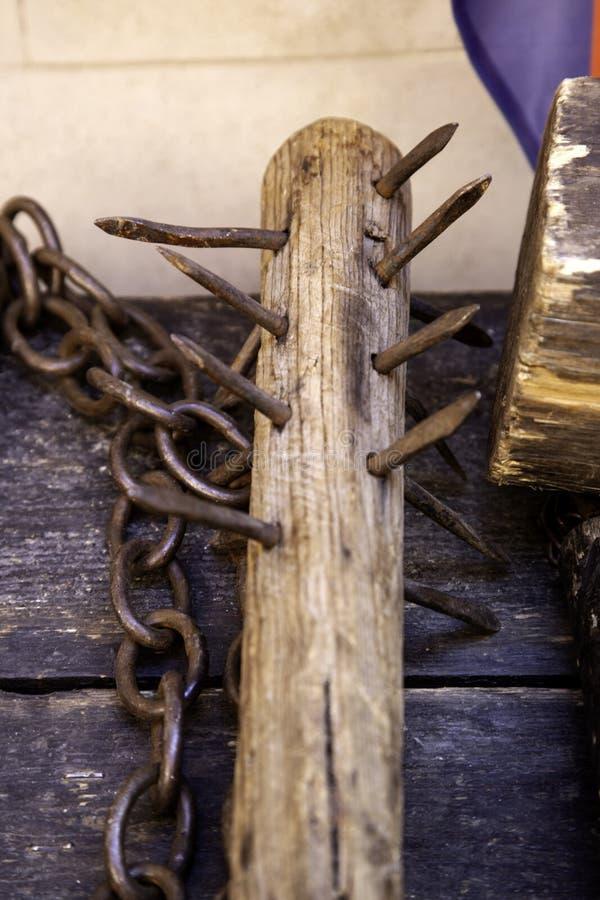 Middeleeuws instrument van marteling stock afbeeldingen