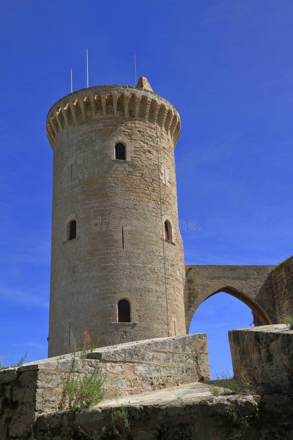 Middeleeuws kasteel Bellver in Palma de Mallorca, Spanje royalty-vrije stock afbeeldingen