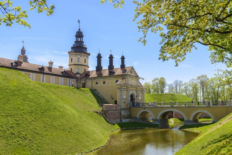 Middeleeuws kasteel Nesvizh, Wit-Rusland. stock foto