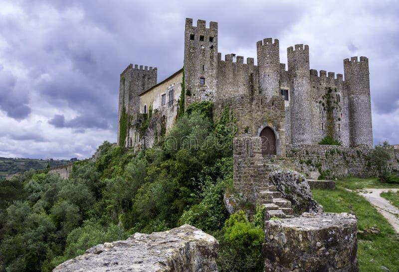 Middeleeuws kasteel, Portugal royalty-vrije stock foto