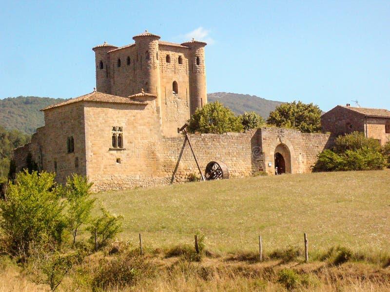 Middeleeuws kasteel van Arques in zuiden-Frankrijk royalty-vrije stock afbeeldingen