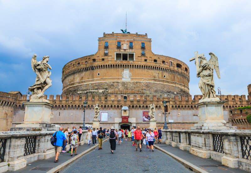 Middeleeuws kasteel van Sant Angelo, Rome, Italië royalty-vrije stock afbeelding