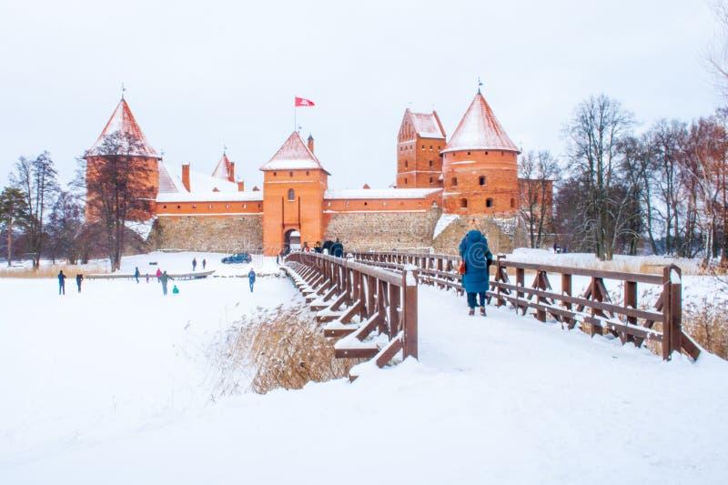 Middeleeuws kasteel van Trakai, Vilnius, Litouwen royalty-vrije stock afbeeldingen