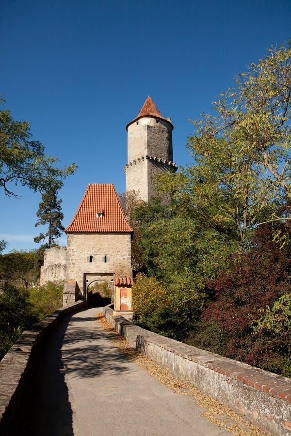 Middeleeuws kasteel Zvikov royalty-vrije stock foto