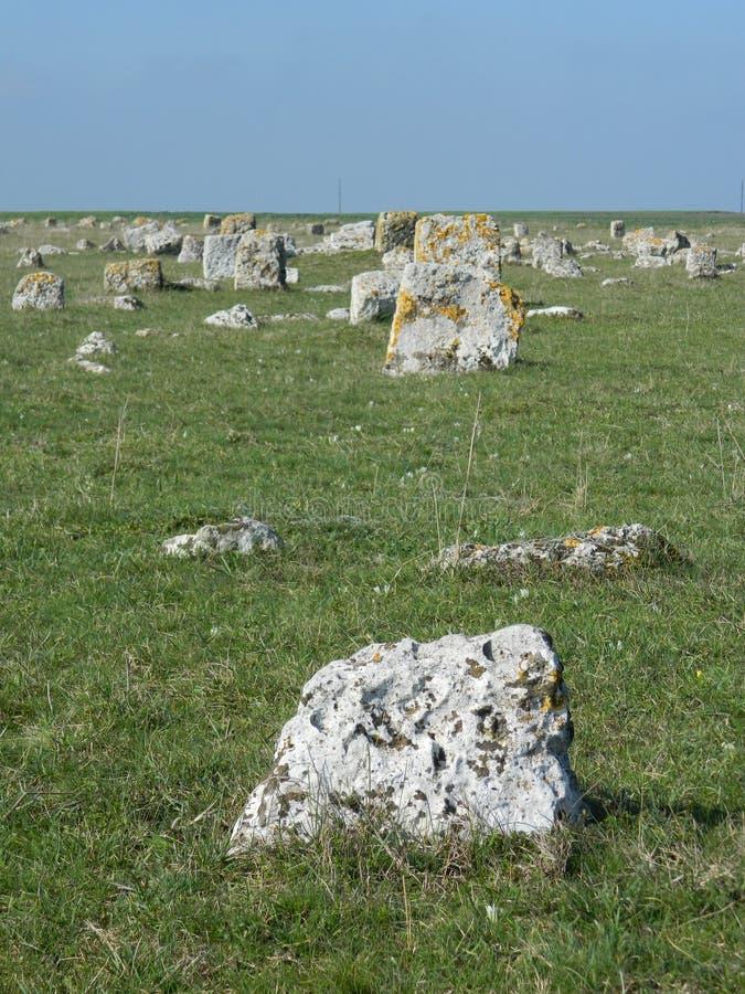 Middeleeuws kerkhof stock fotografie