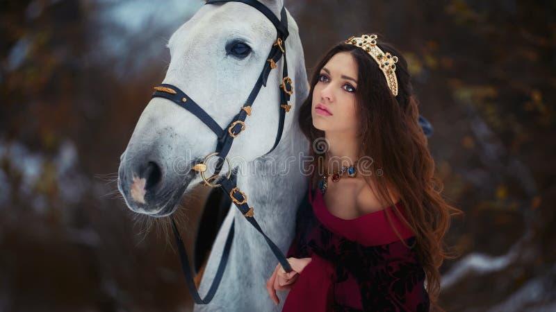 Middeleeuws Koninginportret royalty-vrije stock fotografie