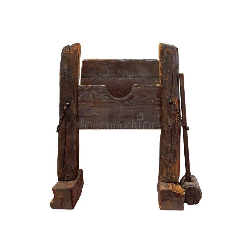 Middeleeuws martelingsinstrument royalty-vrije stock foto