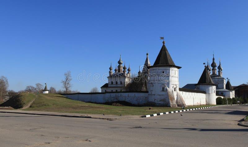 Middeleeuws Orthodox Klooster van Aartsengel Michael royalty-vrije stock afbeelding